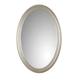 Uttermost - Franklin Oval Mirror by Uttermost - The Uttermost Franklin Oval Mirror has an understated yet endearing pattern to provide a perfect match for your contemporary interior while its avant-garde charm conveys a timeless style. The Franklin Oval Mirror features Antique Silver Leaf finish.