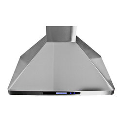 "Proline - Proline PLFW 129E Wall Range Hood, 30 - This brand new variation of our popular 129 range hood is better than ever before, and we're sure you'll be pleased with all the upgrades we've added. With an all new control panel, you'll have four speeds to choose from to cover any cooking situation. It also comes with a remote control, so you can activate or shut off your range hood from anywhere in your kitchen! Even cleaning is a breeze with our dishwasher friendly Stainless Steel baffle filters. 6"" Vent Outlet, Stainless Steel Baffle Filters, 4 Speed Single Blower and NEW remote control!, Two Energy Efficient LED Lights, Maximum Output - 900 CFM"