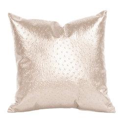 "Howard Elliott - Howard Elliott Ostrich Pearl 16"" x 16"" Pillow - 16"" x 16"" pillow ostrich pearl"