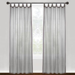 Park B. Smith - Park B. Smith Vintage House Eco Leno Tab Top Panels - This attractive window curtain panel features a 100% cotton mesh chambray weave. All four sides of each panel also have a solid cotton border. The panel easily hangs with tab tops. The tab tops feature stylish, attractive buttons.