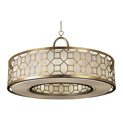 Allegretto 780340 Drum Pendant - I've fallen hard for this Allegretto shade. It creates the perfect WOW factor and with its inside and outside lattice work, it's absolutely stunning!