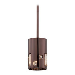 Kovacs - Kovacs P1081-631 1 Light Mini Pendant in Chocolate Chrome from the Bling Bang Co - Single Light Mini Pendant in Chocolate Chrome from the Bling Bang CollectionFeatures: