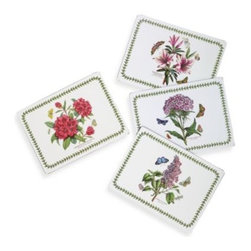 Portmeirion Usa - Pimpernel Botanic Garden Hardback Placemats (Set of 4) - These unique placemats are like pieces of art for your table. Intricate designs and classic color palettes create a timeless look that adds elegance to any meal.