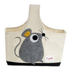3 Sprouts - Mouse Caddy - The 3 Sprouts Caddy is the perfect organizational solution for any nursery. Made of cotton canvas and felt this caddy is the perfect tote for all of those nursery items from diapers to lotions you need in one single spot near your changing table.