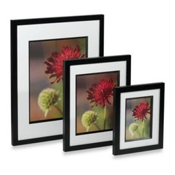 Prinz - Via Venta Black Wood Photo Frame - In addition to displaying your favorite photo, this handsome black wooden frame will add a lovely accent to your decor. Its fine wood construction and upscale gallery style make this frame at home on any shelf.