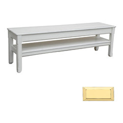 Tradewinds - Coastal Plank Console or Bench, Yellow - The timeless, cottage plank console/bench will be an ideal addition to any home. Stylish and practical, this hand painted furniture piece comes with lower shelf thus offers plenty of storage space. This well-made piece is made using quality hardwoods to give durable performance.