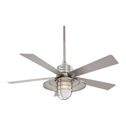 "Minka Aire - Minka Aire F582BNW Rainman Brushed Nickel 54"" Ceiling Fan - Minka Aire F582BNW Rainman Brushed Nickel 54"" Ceiling Fan"