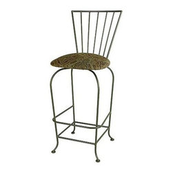 "Grace - Terra Nova Barstool w/ Arms - Features: -Painted according to your choice of metal finish. -Ships fully assembled. -Dimensions: 22"" W x 20"" D x 40"" H. -Swivel Top. -Artistically crafted in wrought iron. -Available in 12 designer metal finishes. -Suited for Residential use only. About Grace Grace Manufacturing is a metal and wrought iron furniture manufacturing company located in Rome, GA. The company has been in business for 25 years and continues to employ skilled artisans and craftsmen. In addition to their state of the art manufacturing equipment they still assemble and finish many products by hand. Many items in the Grace Collection are fully hand made or hand painted. With products ranging from barstools, counter stools, and dinettes to wrought iron beds, hanging potracks, bakers racks and more, Graces line meets all professional and home needs. By implementing unique styles and ideas to traditional products, Grace has created an exceptional balance between creativity and practicality. Their design styles range somewhere between whimsical, neo classic and traditional, thus creating a truly astonishing decor for any inside space."