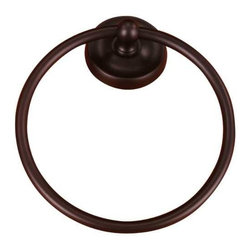 RK International - Towel Ring - TPRB-5 - This sturdy, attractive towel ring boasts a rich bronze finish which complements the decor of many bathrooms.