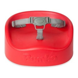 Bumbo - Bumbo Booster Seat in Red - This softly made, contoured booster seat enables children to sit in an adult chair at the table. Ergonomically designed for optimum comfort and equipped with a 3-point harness and attachment straps that help keep your child safely in place.