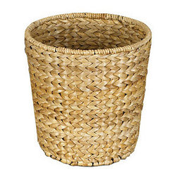 Banana Leaf Waste Can - Add an organic, natural touch to any space with this woven banana leaf wastebasket.
