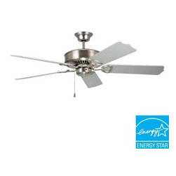 Designers Choice Collection - Indoor Ceiling Fans: Designers Choice Collection Excellence 52 in. Satin Nickel - Shop for Lighting & Fans at The Home Depot. The Designers Choice Collection EXCELLENCE 52 in. Ceiling Fan enhances your interior with a blend of style and performance. The Satin Nickel finish is matched by 5 blades set to a full pitch. A powerful yet energy efficient 188mm motor maximizes air movement.