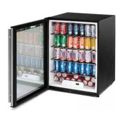 U-Line - ADA24RGLS15 5.3 Cu.Ft. Capacity Undercounter Glass Door Refrigerator  Defrost Te - The ADA24RGL is a 24-inch ADA undercounter glass door refrigerator with a capacity of 53 cubic feet which equates to storage of more than 7-12 cases of 12 oz cans All ADA24R models are ENERGY STAR rated and the glass door model is Consortium for Ener...