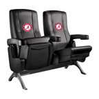 Dreamseat Inc. - University of Alabama NCAA Crimson Tide Row One VIP Theater Seat - Single - Please note: This item is the single chair, not multiple as shown in the photo. We do not have photos of an individual chair by itself. Check out this fantastic home theater chair. This is the same seat that is in the owner's VIP luxury boxes at the big stadiums. It has a rocker back and padded seat, so it's unbelievably comfortable - once you're in it, you won't want to get up. Features a zip-in-zip-out logo panel embroidered with 70,000 stitches. Converts from a solid color to custom-logo furniture in seconds - perfect for a shared or multi-purpose room. Root for several teams? Simply swap the panels out when the seasons change. This is a true statement piece that is perfect for your Man Cave, Game Room, basement or garage.