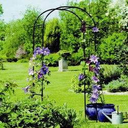 Gardman Rose 6.25-ft. Steel Arch Arbor - Create a glorious entrance to your garden with the lovely Gardman Rose 6.25-ft. Steel Arch Arbor. Horizontal bars provide additional support as well as a place from which to hang lightweight potted plants. This is the perfect arch for training climbing roses passion flowers clematis and morning glories to establish a stunning focal point in your garden. The Rose Arch is constructed of steel tubing with a black epoxy coating and is weather-resistant. Assembly required. Dimensions: 39W x 19D x 75H inches. Gardman USA Inc. is a subsidiary of Gardman Ltd. the largest supplier of decorative lawn and garden and bird care products in the United Kingdom. Gardman has won the Garden Industry Manufacturers Association (GIMA) Supplier of the Year award for the last four years in a row. Through this association Gardman USA has become one of the fastest growing suppliers of decorative lawn and garden and bird care products in the United States. Gardman's goal is to provide high-quality well-designed functional products that offer consumers true value for their money.