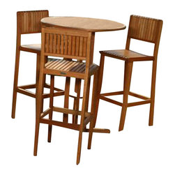 International Home Miami - Amazonia BT Ibiza Patio Bar Set - Great Quality, elegant design patio set, made of solid eucalyptus wood. FSC (Forest Stewardship Council) certified. Enjoy your patio with style with these great sets from our Amazonia outdoor collection
