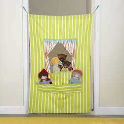 Off-Broadway Puppet Theater - I love this green puppet theater for the kiddos on your list. It's the kind of toy that will spark fun and creativity. Not to mention, it's adorable!