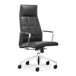 Zuo Modern - Controller High Back Office Chair, Black - Controller High Back Office Chair