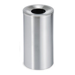 """Blomus - Casa Stainless Steel Wastebasket - Large - How many trash cans could qualify as """"throw away items"""" themselves? This standing waste bin is here for the duration, adding a distinct sense of style and superb design to your business, office or home decor. You can even fix it to the floor if you like. How many previous trash cans would tempt you into a relationship that durable?"""