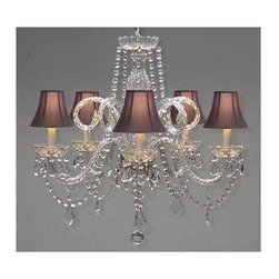 Gallery - Gallery T40-133 5 Light 1 Tier Crystal Chandelier - Features: