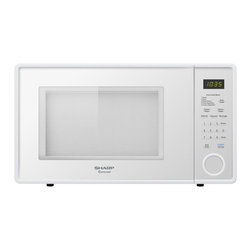 "Sharp - 1.1 cu ft 1000w touch microwave, 11.25"" turntable - R309 series mid-size 1.1 cu. ft. microwave oven in smooth white