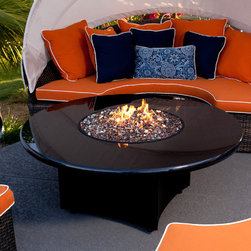 "Oriflamme Fire Table Urban Elegance - Completely rethink ""fire pit"" with this Oriflamme Fire Table from All Backyard Fun. Whether you want a romantic, fun night on your patio or a great centerpiece for backyard parties, this table will be the best outdoor addition to your home you could ever make. Uniquely designed with the highest quality materials, this fire table has a beautiful granite top. If you're looking for a new way to enjoy your backyard or patio, this is it."