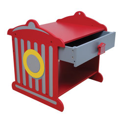 "Fire Truck Hydrant Toddler Table by KidKraft - Our Colorful Fire Hydrant Toddler Table Is Sure To Brighten Up Any Young Boy'S Room. He'Ll Love The Bold Colors, You'Ll Love The Convenience!  See Our Other Items To Create A Complete Bedroom Ensemble.  Features Include:  * Silk-Screened Fire Hydrant Details On The Side * Approx. Dimensions: 14"" X 12.5""X 14.25"" H * Drawer With Fire Hydrant-Shaped Knob * Extra Storage Space Below Drawer * Made Of Wood * Sturdy Construction * Age Range:  3+ Yrs. * Color:  Red With Gray, White, And Yellow * Offer Only Includes Item Described Above. Other Object(S) In Photo(S) Not Included Unless Specified Above. * Materials:  Mdf And Rubberwood * Recommended Weight Capacity:  153 Lbs. * 120-Day Manufacturer'S Repair Or Replace Warranty  * Shipped Insured * Brand New"