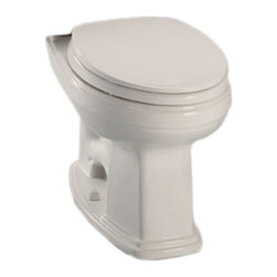 Toto - Toto C423EF#12 Sedona Beige Eco Promenade Toilet, Round Bowl Only 1.28 GPF - With square, sleek lines and a classic, pedestal-like design, the Promenade series to give an old-world style and traditional feel to any home decor.