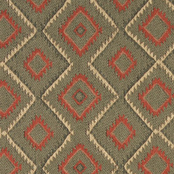 Green, Beige and Red, Diamond Southwest Style Upholstery Fabric By The Yard - This southwest chenille upholstery fabric is great for all indoor upholstery applications. This material is uniquely soft and durable. Any piece of furniture will look great upholstered in this material!