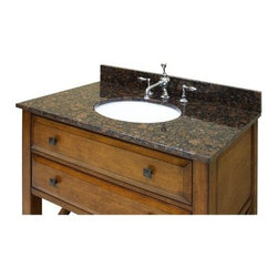 Sagehill Designs 31W x 22D in. Vanity Top with Undermount Sink - Customize your bathroom decor with the Sagehill Designs 31W x 22D in. Vanity Top with Undermount Sink available with your choice of four beautiful solid genuine stone tops. Choose between: white Carrera marble desert beige granite midnight black granite or sable brown granite. Each material is a full .75 inches thick and accents any modern or traditional design elements with stunning style. An 7.25-inch deep white porcelain sink comes pre-mounted to the counter and features a wide oval design. The counter comes pre-sealed for superior protection and pre-polished to a mirror gloss ensuring the surface remains looking good-as-new with very little care. Each countertop option comes pre-drilled with three holes to fit a standard 8-inch widespread faucet spread (faucet is not included). A matching four-inch high backsplash is included. A three-step installation design makes fitting the unit to your bathroom as easy as one-two-three. About Sagehill DesignsWith Sagehill Designs it's all in the details. Since 1986 Sagehill Designs has been crafting superior quality kitchen and bath furnishings. Rich in detail that matter you'll find heirloom-quality finishes impeccable craftsmanship and generous storage wrapped in a smart design. You get it all with a Sagehill Design original. Sagehill Design's specialists in helping you create the perfect kitchen or bath environment.