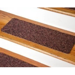 "Dean Flooring Company - Dean Non-Skid DIY Peel & Stick Carpet Stair Treads - Color: Multicolor Tweed - Dean Affordable Non-Skid DIY Peel & Stick Carpet Stair Treads - Color: Multicolor Tweed - Set of 13 : Affordable Non-skid Peel and Stick DIY Carpet Stair Treads by Dean Flooring Company. Extend the life of your high traffic hardwood stairs. Reduce slips/increase traction. Cut down on track-in dirt. Reduce noise. Add a fresh new look to your staircase. Helps you and your dog easily navigate your slippery hardwood stairs. 100% Nylon. Made in the USA! Set includes 13 peel and stick carpet stair treads for quick, convenient, easy, do-it-yourself installation. Each tread measures approximately 23"" x 8"". Our all new exclusive adhesive peel and stick strips (not double-sided tape) make do-it yourself installation a breeze. Adhesive will NOT damage your hardwood flooring. Easy to remove if you later decide to remove your carpet stair treads. Adhesive strips come pre-applied. No additional installation products needed. Edges will not fray. Rounded corners. This product is manufactured and sold exclusively by Dean Flooring Company. Add a touch of warmth and style to your stairs today with new stair treads from Dean Flooring Company!"