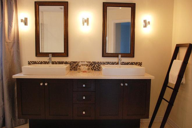 Contemporary Bathroom by Dwelling on Design, Deborah Derocher