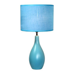 Simple Designs - Simple Designs Lamps 18.11 in. Blue Oval Base Ceramic Table Lamp LT2002-BLU - Shop for Lighting & Ceiling Fans at The Home Depot. A lovely inexpensive and practical table lamp to meet your basic fashion lighting needs. This 18 in. tall lamp features a blue ceramic base and matching fabric shade. Perfect for living room bedroom office kids room or college dorm.