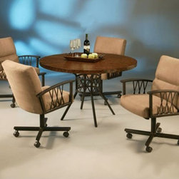 Pastel Furniture - Ravenwood 5 Piece Dining Table Set in Autumn Rust - RW510-809 - Set includes Dining Table and 4 Chairs