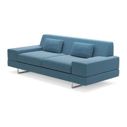 True Modern - Hamlin Sofa, Ivory - This 86-inch version of the Hamlin sofa will fit right in with your minimalist and modern aesthetic. Kick back after a long day with a martini and enjoy the sleek look of your sofa. Of course, you'll have to choose between six upholstery colors first.