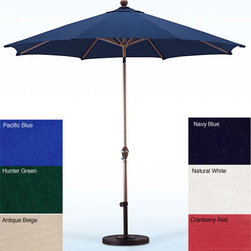 None - Premium Olefin 9-foot Patio Umbrella with Stand - Enjoy relaxing in your yard on a sunny day under this 9-foot patio umbrella with a stand from Olefin. Made from Olefin fabric and a durable pole with ribs,this umbrella is firm and stable. This umbrella comes in various colors to suit your decor.