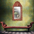 Palace Trellis Moroccan Stencil - The Large Palace Trellis Stencil from Royal Design Studio is as regal as its name states! Perfect for an entry way or sitting area, stencil it in a Metallic Finish using our Royal Stencil Crème Paints for a touch of elegance to any space.