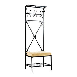 SEI Entryway Storage Rack Hall Tree