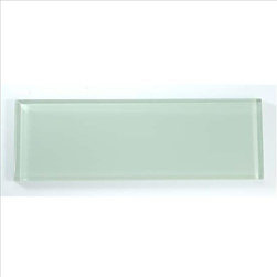 "4""x12"" Glass Wall Tile, Ocean Spray, 1 Box/4.88 Square Feet - Sold by the Box - 4.88 Square Feet per box"
