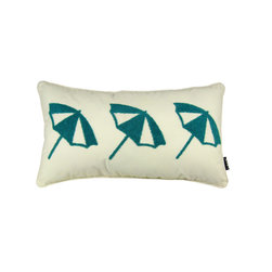 Umbrellas 12X22 Pillow (Indoor/Outdoor) - 100% polyester cover and fill.  Imported.  Spot clean only
