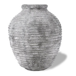 Amedeo Design, LLC - USA - Odyssey Urn - Our Odyssey Urn is a piece from our one of a kind Old World Collection. This urn evokes images of aging wine, curing olives and Mediterranean winds. A perfect accent indoors or out. Though they look like ancient European & Mediterranean designs in carved stone, our products are made of lightweight weatherproof ResinStone. So authentic, you actually have to lift these planters to convince yourself they're not stone at all! Made in USA.