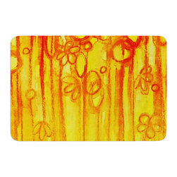 "KESS InHouse - Ebi Emporium ""Summer Sentiments"" Memory Foam Bath Mat (17"" x 24"") - These super absorbent bath mats will add comfort and style to your bathroom. These memory foam mats will feel like you are in a spa every time you step out of the shower. Available in two sizes, 17"" x 24"" and 24"" x 36"", with a .5"" thickness and non skid backing, these will fit every style of bathroom. Add comfort like never before in front of your vanity, sink, bathtub, shower or even laundry room. Machine wash cold, gentle cycle, tumble dry low or lay flat to dry. Printed on single side."