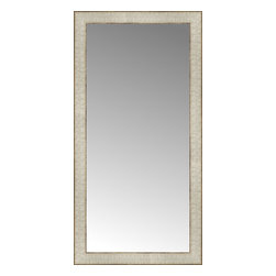 """Posters 2 Prints, LLC - 17"""" x 33"""" Libretto Antique Silver Custom Framed Mirror - 17"""" x 33"""" Custom Framed Mirror made by Posters 2 Prints. Standard glass with unrivaled selection of crafted mirror frames.  Protected with category II safety backing to keep glass fragments together should the mirror be accidentally broken.  Safe arrival guaranteed.  Made in the United States of America"""