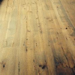 Antique White Oak Wide Plank Flooring - Richard Riggs