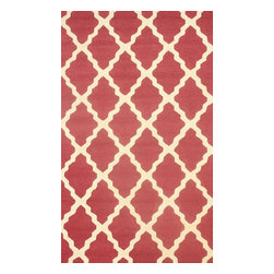 nuLOOM - Transitional 5'x8' Berry Hand Hooked Area Rug Moroccan Trellis - Made from the finest materials in the world and with the uttermost care, our rugs are a great addition to your home.