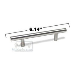 "SOLID Stainless Steel Bar Pulls - 3 3/4"" (96mm) Centers European Bar Pull 6.14"" -"