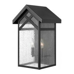 Hinkley - Hinkley Holbrook Two Light Black Outdoor Wall Light - 1794BK - This Two Light Outdoor Wall Light is part of the Holbrook Collection and has a Black Finish. It is Outdoor Capable.
