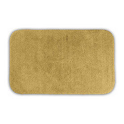"""Sands Rug - Cheltenham Linen Washable Runner Bath Rug (2' x 3'4"""") - Add a layer of plush comfort and safety with the inviting Cheltenham bath and spa rug collection. Each piece, whether a bath runner, bath mat or contoured rug, is created from soft, durable, machine-washable nylon. Each floor piece is backed with skid-resistant latex for safety."""