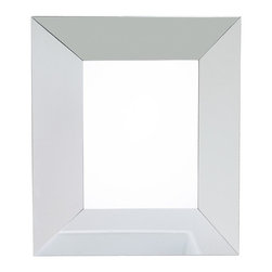 Lyn Design - Glass Geometric Mirror - Beveled glass. Rectangular shape. 24 in. W x 28.25 in. H