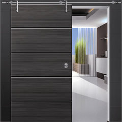 modern interior doors Modern Stainless Steel Wood Sliding Door Fitting Sets